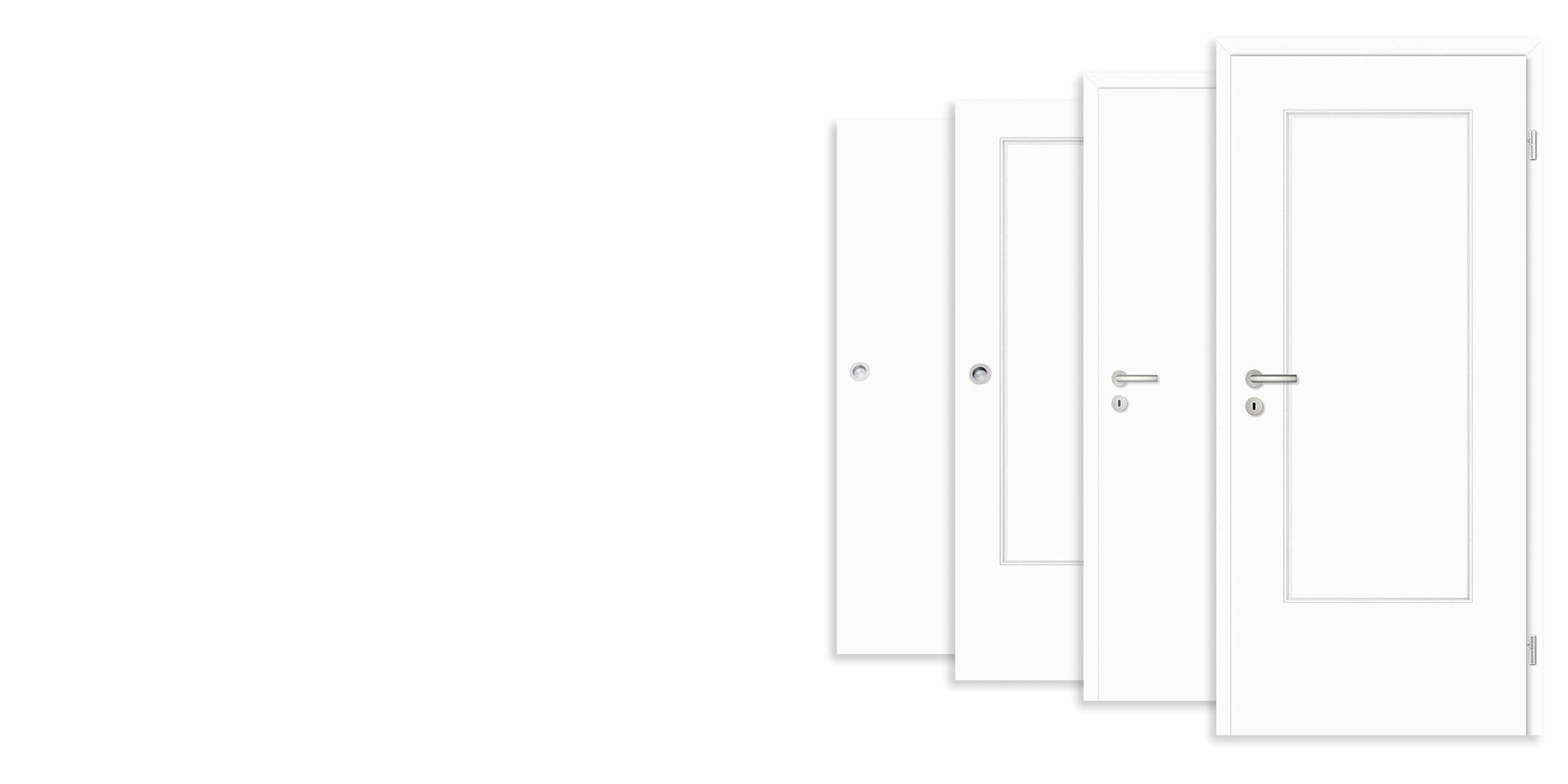CPL Zimmertüren Weiß