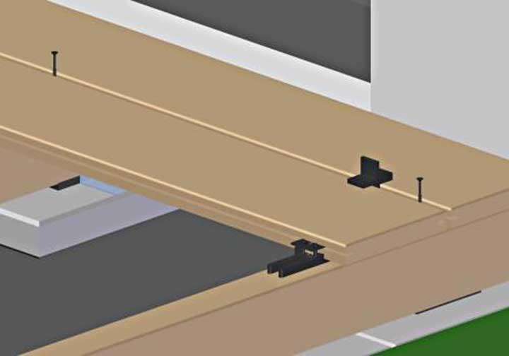Terrassen Montagesystem Kebony