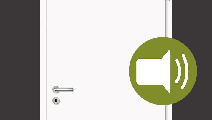 CPL-Schallschutz-Tür weiß